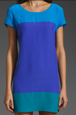 Amanda Uprichard Colorblock Dress in Blue