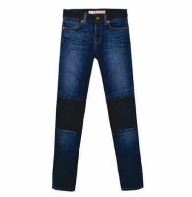 Ankle Skinny patch jeans
