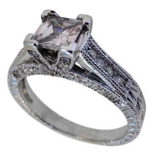 Engagement And Wedding Ring Sets Princess Cut 79 Good Vintage cut diamond engagement
