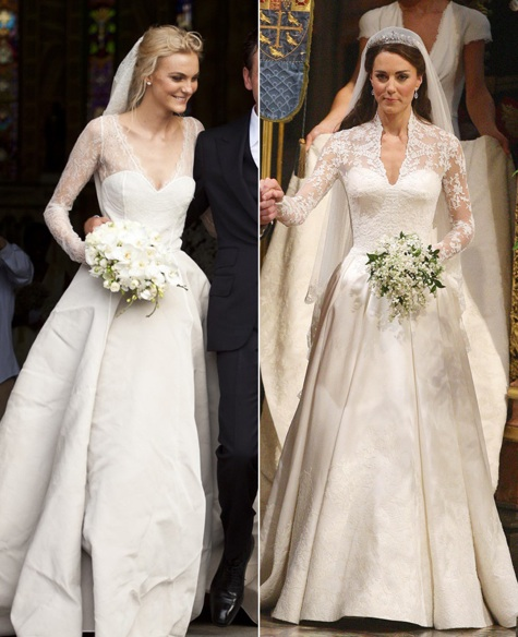 Did Model Caroline Trentini Channel Kate Middleton On Her Wedding Day?
