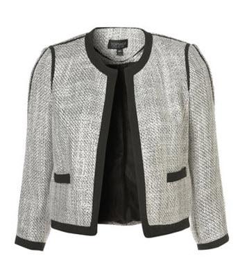 Contrast Bound Boucle Jacket
