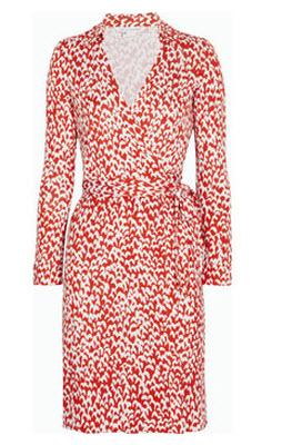 DVF New Jeanne Printed Silk Jersey Wrap Dress