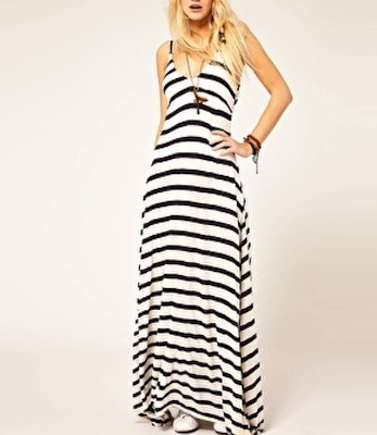 Denim & Supply By Ralph Lauren Stripe Maxi Dress