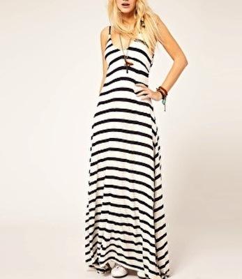 Black  White Striped Maxi Dress on Denim   Supply By Ralph Lauren Stripe Maxi Dress   143 24  Asos