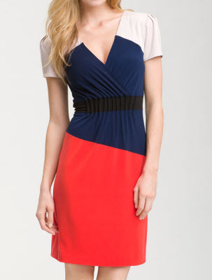 Donna Morgan Colorblock Jersey Sheath Dress