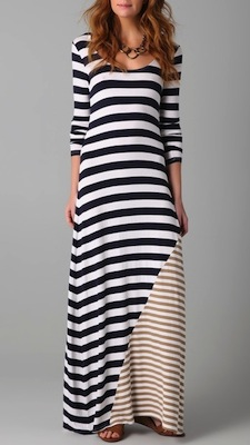 Ella Moss Chelsea Striped Maxi Dress