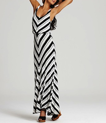 Black  White Striped Maxi Dress on Ella Moss Ringo Maxi Dress   188  Bloomingdale   S