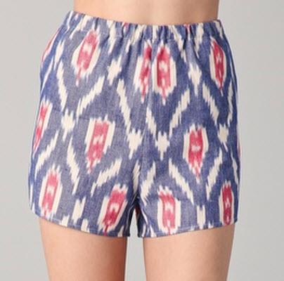 Harvey Faircloth Ikat Shorts