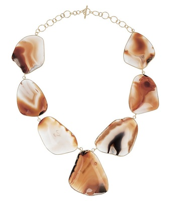 Isharya Druzy 18-karat gold-plated Agate Necklace
