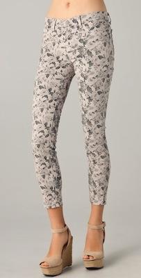 J Brand Floral Cropped Skinny Jeans