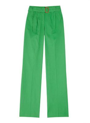 J.Crew Hutton Stretch Cotton Wide Leg Pants