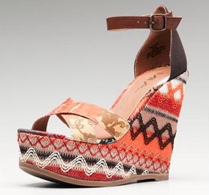 MIA Hi Wedge Tribal Sandal