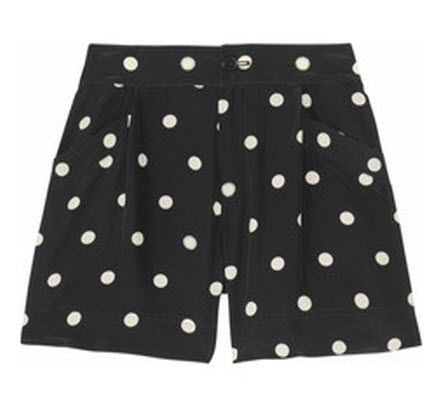 Marc by Marc Jacobs Hot Dot Silk Shorts