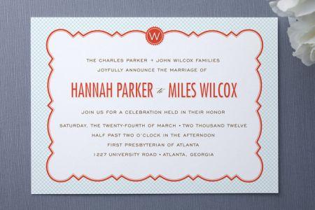 Parisian Grammar School Wedding Invitations