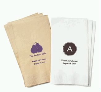 Personalized Eco-Friendly Guest Towel Napkins