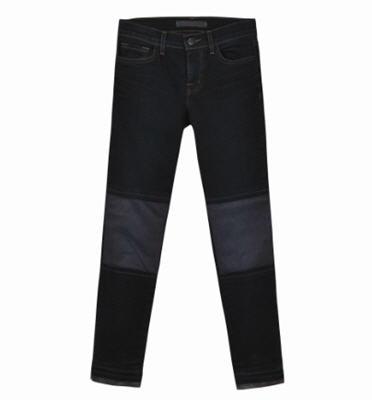 Pieced Leather Capri