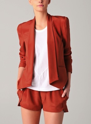 Rebecca Minkoff Becky Jacket in Burnt Orange