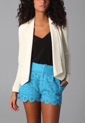 Rebecca Minkoff Becky Jacket in Cream