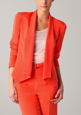 Rebecca Minkoff Becky Jacket in Neon Orange