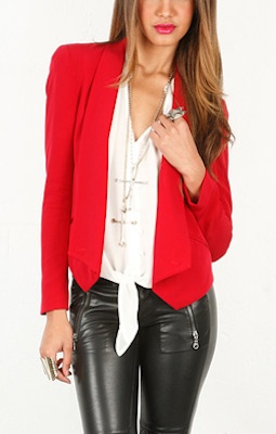 Rebecca Minkoff Becky Jacket in Red