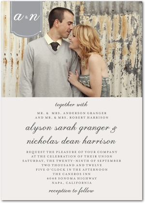 Editors Pick Romantic Tab Wedding Invitation