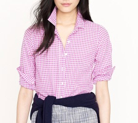 Tall Perfect Shirt in Mini Gingham