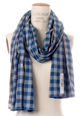 The Hill Side Selvedge Gingham Scarf