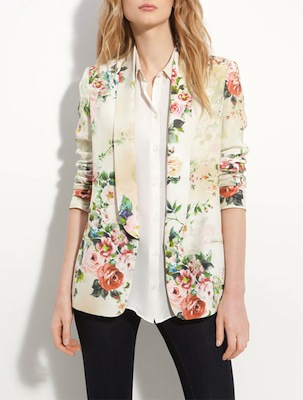 Truth & Pride Rose Print Silk Menswear Jacket