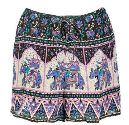 Winter Kate Lila Elephant Print Shorts