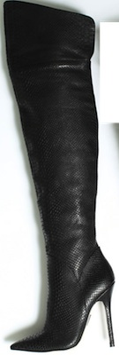 Over-the-knee reptile stiletto boot