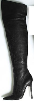 Over-the-knee reptile stiletto boot