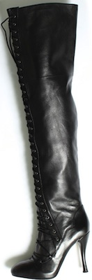 Over-the-knee lace-up stiletto boot