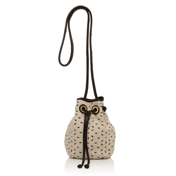 Lulu Guinness Stone Perforated Dolly