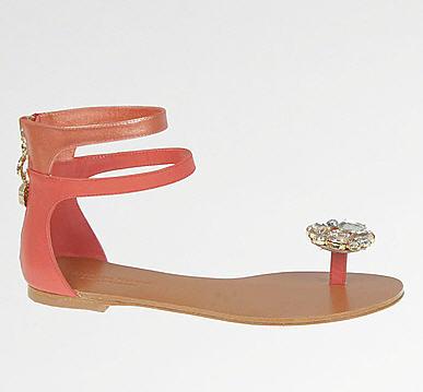 Adrienne Maloof Victoria Flat Sandals