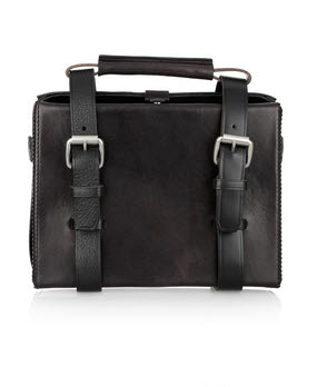 Acne leather briefcase