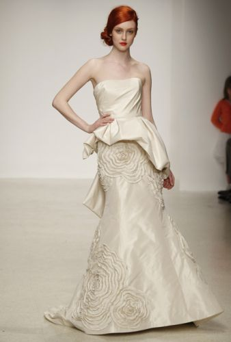 We love the funky fashion forward wedding dress from Amsale