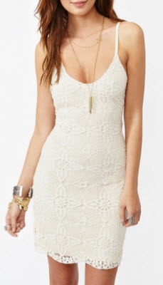 Aurora Lace Dress in Ivory