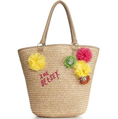 Betsey Johnson Handbag, Brasil Straw Tote