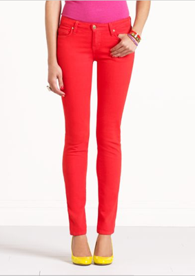 Broome Street Colored Jeans in Red