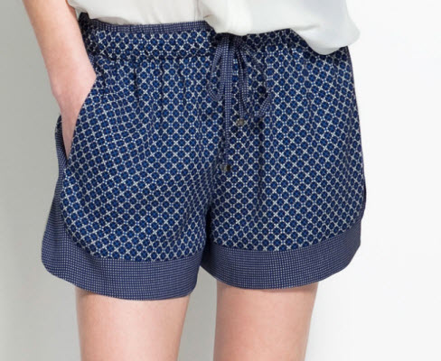 Combined Printed Shorts