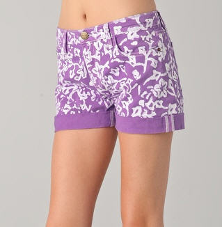 DVF Loves Current / Elliott Classic Rolled Shorts