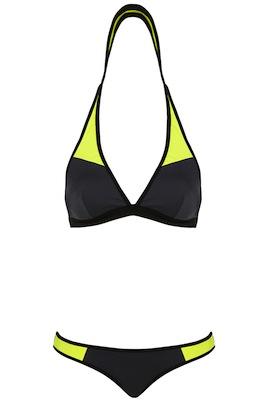 Grey Sporty Triangle Bikini