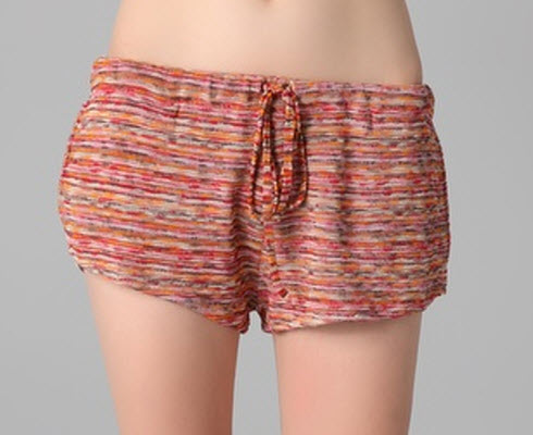 Haute Hippie Drawstring Mini Shorts