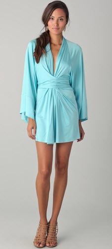 Issa Kimono Dress In Green 595 At Bop