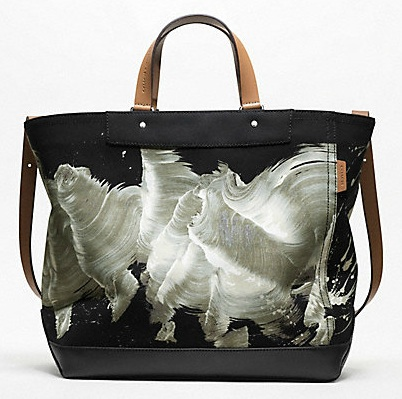 James Nares for Coach Black tote
