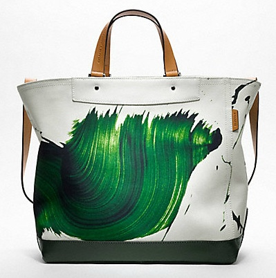 James Nares for Coach Green tote
