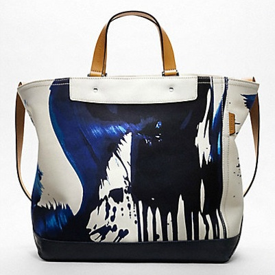 James Nares for Coach Navy tote