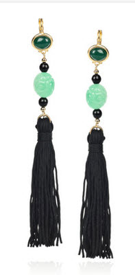 Kenneth Jay Lane 22-karat Gold Plated Beaded Tassel Earrings