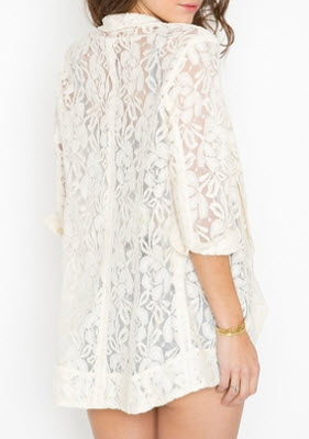 Lana Lace Jacket in Cream