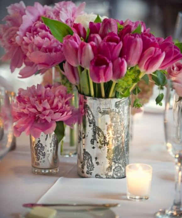 Mercury Glass Containers Best Wedding Decor 2012 Wedding Trends